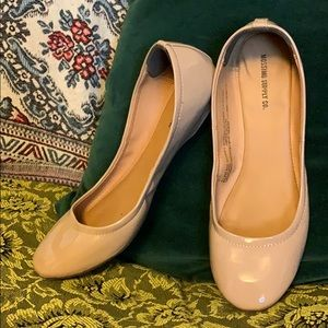 Mossimo nude patent ballet flats